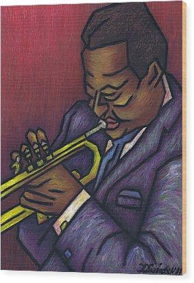 Miles Davis Wood Print by Kamil Swiatek