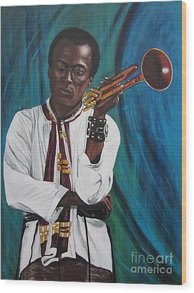 Miles-in A Really Cool White Shirt Wood Print by Sigrid Tune