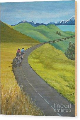Miles To Go Wood Print by Kris Crollard