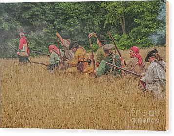 Wood Print featuring the digital art Milita On The Flank by Randy Steele