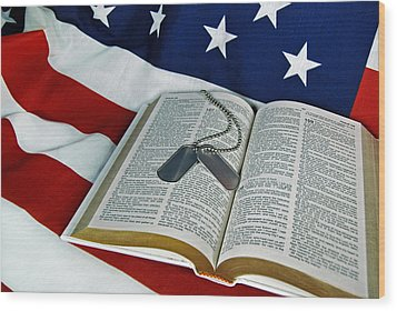 Military Tribute Wood Print by Maria Dryfhout
