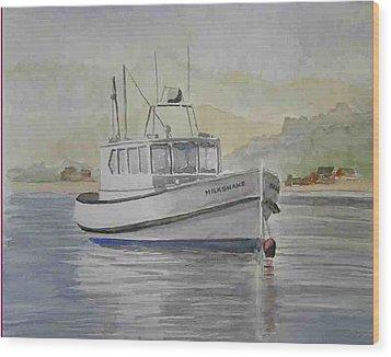 Milkshake Boat Wood Print