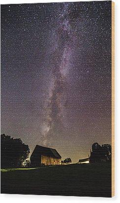 Milky Way And Barn Wood Print