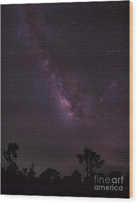 Wood Print featuring the photograph Milky Way And Galaxy. by Tosporn Preede