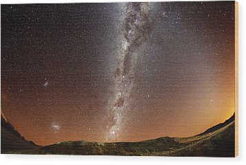 Milky Way Wood Print by (c) 2010 Luis Argerich
