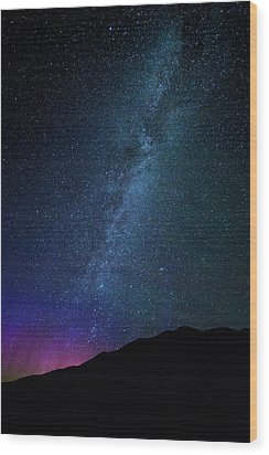 Milky Way Galaxy After Sunset Wood Print by Dan Pearce