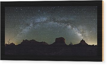 Milky Way Over Bell Wood Print by Tom Kelly