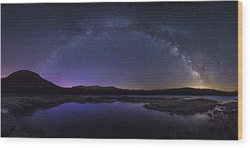 Milky Way Over Lonesome Lake Wood Print