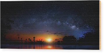 Wood Print featuring the photograph Milky Way Sunrise by Mark Andrew Thomas