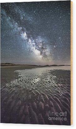 Milky Way Tide Pool Wood Print