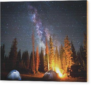 Milky Way Wood Print by William Church - Summit42.com