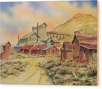 Mill Bodie Ghost Town California Wood Print by Kevin Heaney