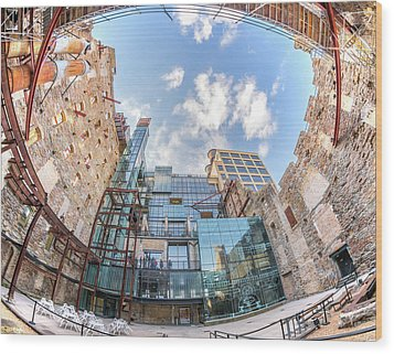 Mill City Museum Wide Angle View Wood Print by Jim Hughes