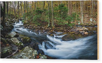 Mill Creek In Fall #2 Wood Print