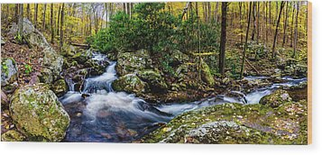 Mill Creek In Fall #4 Wood Print