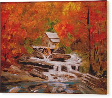 Mill Creek Wood Print by Phil Burton