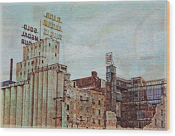 Mill District Minneapolis Wood Print by Susan Stone