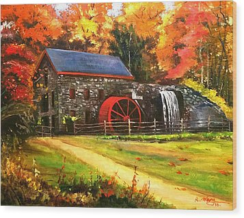 Mill House Wood Print