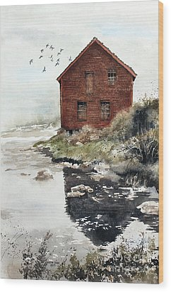 Mill Pond Wood Print by Monte Toon