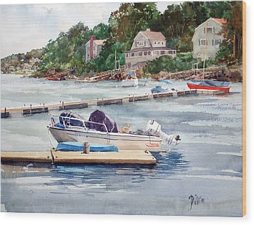 Mill River Gloucester Wood Print by Peter Sit