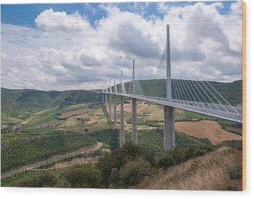 Millau Viaduct Wood Print