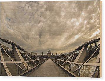 Millennium Bridge Wood Print