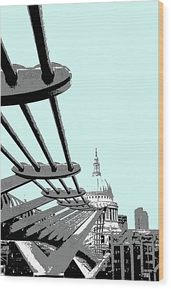 Millennium Bridge Wood Print
