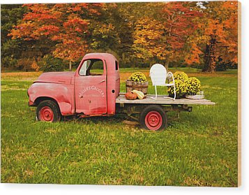 Millers Truck Wood Print by Paul Bartoszek