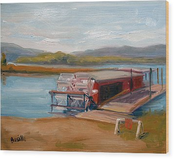 Millersburg Ferry Wood Print by Kathy Busillo