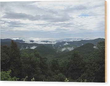 Mills River Valley View Wood Print
