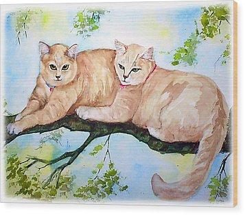 Milo And Timon Wood Print by Gina Hall