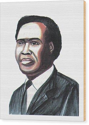 Milton Apolo Obote Wood Print by Emmanuel Baliyanga
