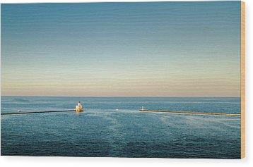 Wood Print featuring the photograph Milwaukee Harbor by Randy Scherkenbach