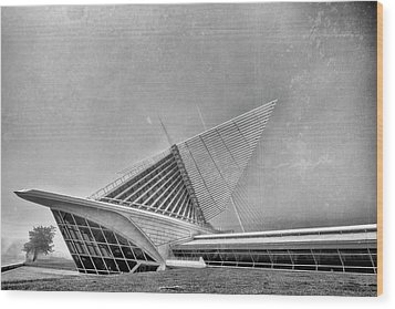 Wood Print featuring the photograph Milwaukee Museum Of Art Special 2 by David Haskett