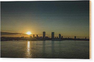 Wood Print featuring the photograph Milwaukee Sunset by Randy Scherkenbach