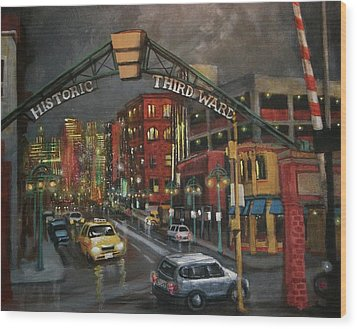 Milwaukee's Historic Third Ward Wood Print by Tom Shropshire