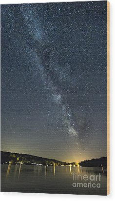 Milky Way From A Pontoon Boat Wood Print