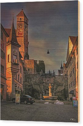 Wood Print featuring the photograph Main Square by Hanny Heim