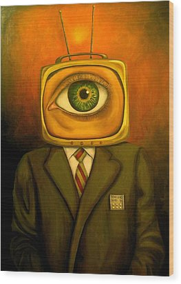 Mind Changer Wood Print by Leah Saulnier The Painting Maniac