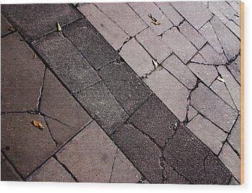 Mind The Cracks Wood Print by Jez C Self