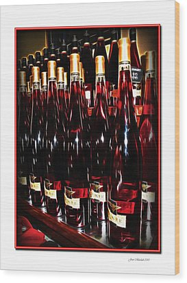 Wood Print featuring the photograph Miner Pink Sparkling Wine by Joan  Minchak
