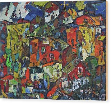 Miners' Little Town Wood Print by Ivan Filichev
