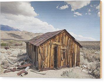 Miner's Shack In Benton Hot Springs Wood Print