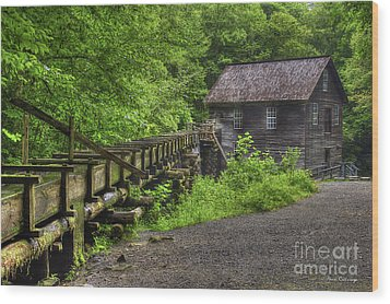 Wood Print featuring the photograph Mingus Mill 2 Mingus Creek Great Smoky Mountains Art by Reid Callaway