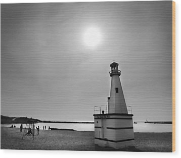 Miniature Lighthouse Wood Print by John Hansen