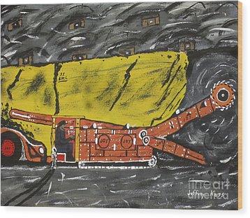 Coal Mining  Wood Print by Jeffrey Koss