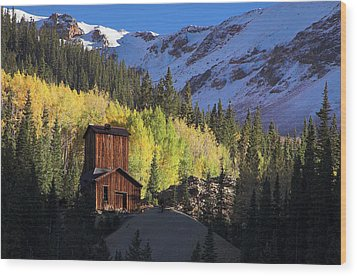 Wood Print featuring the photograph Mining Ruins by Steve Stuller