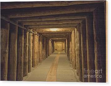 Wood Print featuring the photograph Mining Tunnel by Juli Scalzi