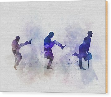 Ministry Of Silly Walks Wood Print by Rebecca Jenkins