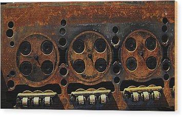 Wood Print featuring the photograph Minks by Cyryn Fyrcyd
